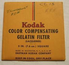 Kodak wratten GELATINA Filtro no.cc13 7.6cm OR 7.6cm Cuadrado