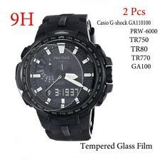 2PCS Casio G-shock GA-100 GA11010 PRW-6000 PR750 PR80 PR770 Tempered Glass Film