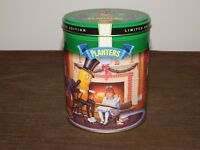 "VINTAGE 6 1/4"" HIGH 1997 PLANTERS PEANUTS CHRISTMAS TIN CAN *EMPTY*"