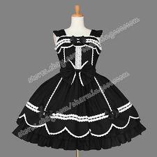 Victorian Sweet Lolita Romantic Gothic Jumper Skirt Black Reenactment Dress New