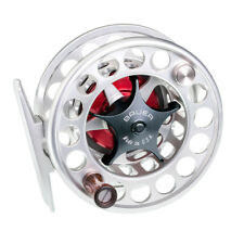NEW BAUER SST4 CLEAR SILVER FLY REEL BLACK KNOB #3-5 WEIGHT FREE $85 LINE