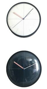 Round Domed Glass metal Wall Clock Home Office Modern Style Contemporary 25cm