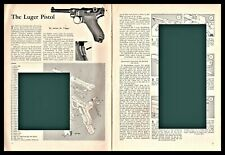 1958 Luger Pistol Exploded View.Parts List.2-page Assembly Article