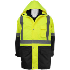HI Vis 3-IN-1 Winter Parka, Wind & Waterproof, Class 3, Sz:Med, GLO-P2-M