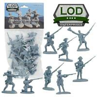 BARZSO LOD Revolutionary War Continental Infantry 16 Plastic Figures FREE SHIP