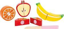 Kinderküche Obst-Set Obstset Früchte zum Schneiden Klett Holzobst Frucht Legler