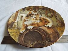 ROYAL WORCESTER CAT PLATE (257)