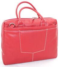 Borsa Donna Professionale Cartella Pelle Rossa Due manici Tracolla Porta Laptop