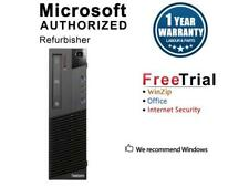 Refurbished Lenovo ThinkCentre M93P Slim/Small form factor Intel Core i5 4570 3.
