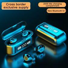 Waterproof Wireless Bluetooth 5.1 Earbuds Headphones Headset Noise Cancelling