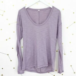 Lululemon Top Size 12 Heathered Dusty Dawn Meant To Move Long Sleeve Thumbholes