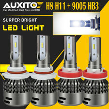 H11 H8 + HB3 9005 32000LM LED Headlight High Low Beam Combo Kit 6000K White EA