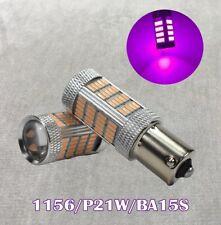 Brake Tail Stop Light 1156 BA15S 3497 1141 7506 P21W 92 LED Purple Bulb W1 JAE