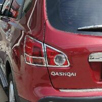 NISSAN QASHQAI REAR LIGHT BOOT LID LIGHT CHROME COVER TRIM 4 PCS 2006-2010