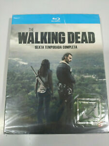 The Walking Dead Sixth Season 6 Complete 4 X Blu-Ray Spanish English New 3T