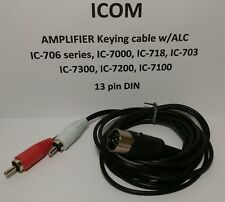 Icom amplifier keying cable IC-706, IC-7000, IC-718, IC-7300, 13 pin DIN w/ ALC