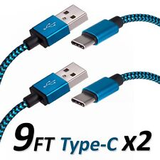 9FT Type C USB Charger Data Cable For Android Device Type-C High Quality 2 Sets