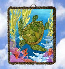 Tropical Beach Ocean 21 Turtle Sea Beach Decor Art Coastal lalarry Ventage