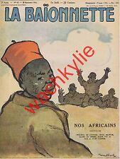La baionnette n°65 du 28/09/1916 Nos africains Spahis Tirailleurs Poulbot