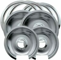 Range Kleen Style D Heavy Duty Drip Pans and Trim Rings for GE Hotpoint