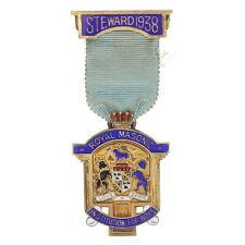 1938 Royal Masonic Institution for Boys Steward Medal Sterling 925 British Badge