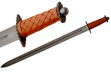 "Viking Sword Damascus Blade 35"" Celtic Sword Collectible"