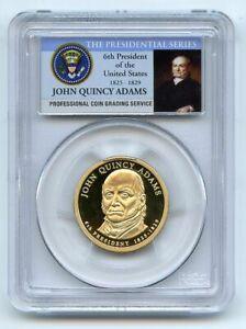 2008 S $1 John Quincy Adams Dollar PCGS PR70DCAM