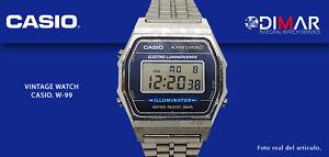 VINTAGE WATCH CASIO W-99 ALARMA CRONO WR. 50m QW.1572, AÑO 1997.