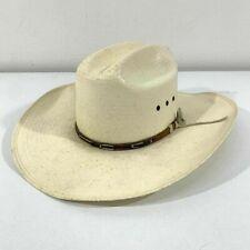 Stetson Stallion Hat Youth Size Medium Cream Woven Straw Cowboy Ranch Headwear
