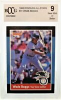 1988 Donruss All Stars #31 Top Vote Getter Wade Boggs BCCG 9 Near Mint