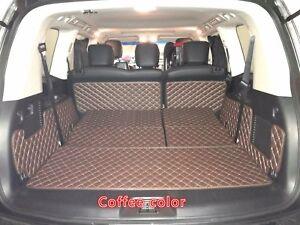 For Nissan Patrol Y62 2010-2019 Leather Car Rear Trunk Floor Mat Boot Liner 1Set