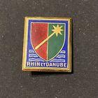 Original French Rhine & Danube Division Badge Enameled WWII Indochina