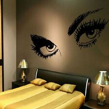 Beautiful Eyes Big Eye Lash Wink Decor Wall Sticker Beauty Art Mural Vinyl Decal