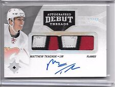 2016-17 Ultimate Collection MATTHEW TKACHUK DEBUT THREADS 3 COLOR PATCH AUTO /49