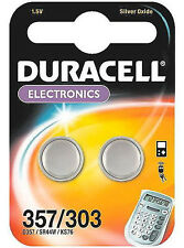 Duracell Battery Silver Oxide for Calculator or Pager 1.5v Ref D357 Pack 2