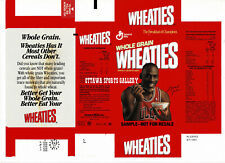 "1990 MICHAEL JORDAN UNCUT & UNFOLDED FROM FACTORY ""SAMPLE"" WHEATIES BOX 28"