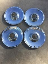 1957 LINCOLN PREMIER HUBCAPS WHEEL COVERS CENTER CAPS VINTAGE CLASSIC MARK