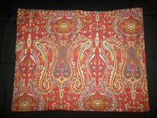 Ralph Lauren Standard Pillow Sham Red Blue Green Yellow Paisley Floral