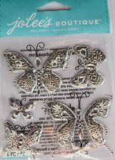 JOLEE'S BOUTIQUE BUTTERFLY BLING Silver Scrapbook Craft Stickers Embellishment