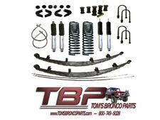 """1966-1977 Early Ford Bronco 2.5"""" Suspension Kit Complete - Stage 4"""