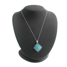 HSN Heritage Gems Sterling Sleeping Beauty Turquoise Pendant Necklace $358