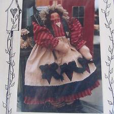 """Meme's Quilts Emily Annie 16"""" Primitive Rag Cloth doll pattern"""