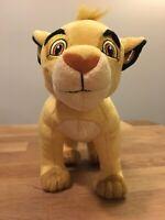 "Lion King Young Simba Disney Plush Toy Stuffed Animals 14"" Brown Feet Standing"