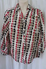 "Style&Co. Woman Top Sz 3X Gray Black Berry White ""Le Marais"" Casual Party Shirt"
