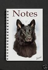 German Shepherd Dog Black Notebook/Notepad By Starprint
