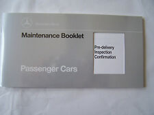 1995 mercedes sl Owners Maintenance Book W129 W140 W124 maintenance schedule