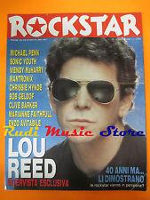 rivista ROCKSTAR 119/1990 Lou Reed Sonic Youth Marianne Faithfull Mantronix Nocd