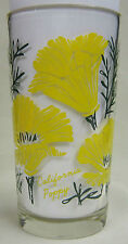 California Poppy Peanut Butter Glass Glasses Drinking Kitchen Mauzy 39-5