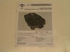Briggs & Stratton Small Engine Operator'S Manual-Model#110600/11160 0/120600