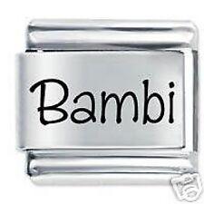 BAMBI nome-DAISY CHARMS da JSC accoppiamenti Classic Taglia Italiana Bracciale con Charm